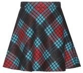 Miu Miu Virgin wool and mohair-blend miniskirt