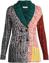 Sonia Rykiel Contrast-panel chunky-knit cardigan