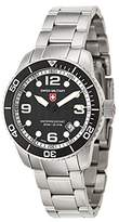 Swiss Military Men's Navy 42mm Steel Bracelet & Case Swiss Quartz Watch 2701