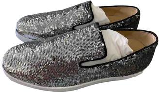 Christian Louboutin Silver Glitter Flats