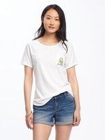 Old Navy Relaxed Crew-Neck Pocket Tee for Women