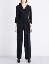 Chalayan Wrap-sleeve crepe jumpsuit