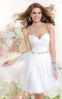 Tarik Ediz Illusion Jewel A-Line Cocktail Dress 90368