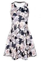 Select Fashion Fashion Womens Black Bloomsbury Print Skater Dress - size 6