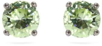 Bottega Veneta - Cubic Zirconia And Sterling Silver Stud Earrings - Womens - Green