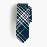 J.Crew Boys' cotton tie in classic blue plaid