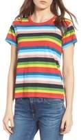 Pam & Gela Rainbow Stripe Ringer Tee