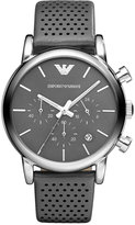 Emporio Armani Watch, Men's Chronograph Gray Leather Strap 41mm AR1735
