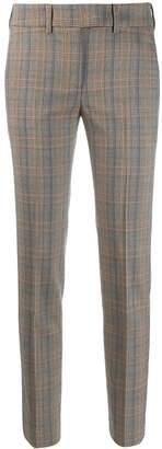 Incotex plaid slim fit trousers