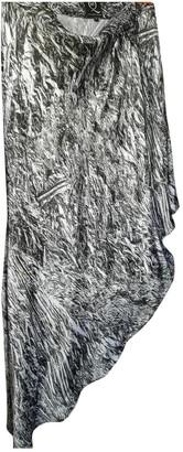 Alexander McQueen Grey Silk Skirt for Women