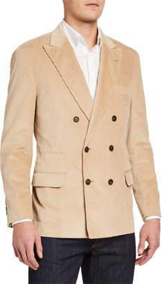 Brunello Cucinelli Men's One and A Half Breasted Corduroy Cotton Blazer