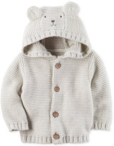 Carter's Hooded Bear Cotton Cardigan, Baby Boys (0-24 months)