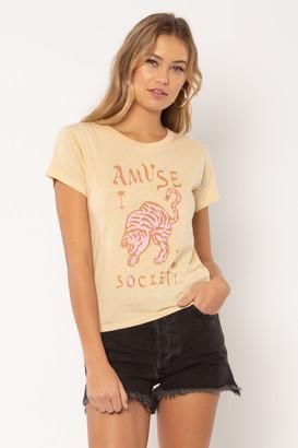 Amuse Society Wild Me T Shirt - cotton | M . | sand - Sand