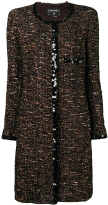 Chanel Pre Owned 2000's Boucle Tweed Coat