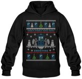 RIen Men's Wibbly Wobbly Timey Wimey Christmas Ugly Sweater Hoodie L
