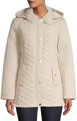 London Fog Quilted Hooded Jacket