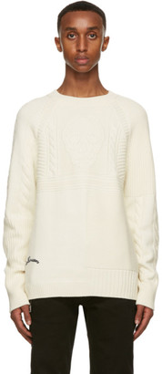 Alexander McQueen Off-White Wool Embroidered Logo Sweater