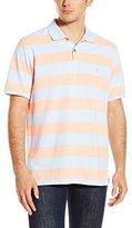 Izod Men's Short-Sleeve Newport Oxford Stripe Polo Shirt