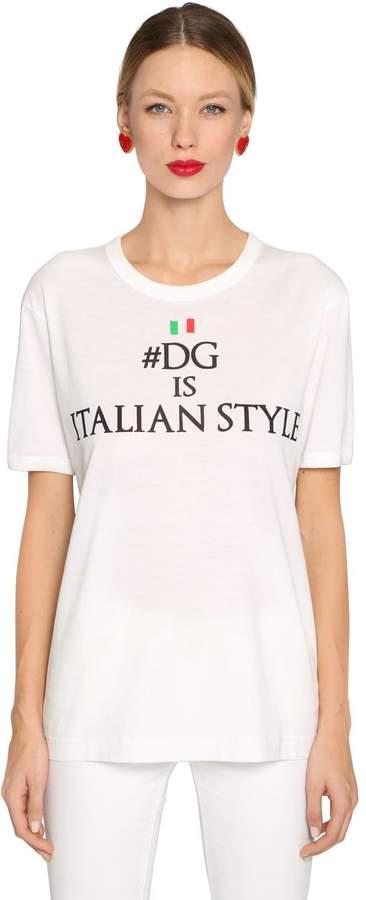 Dolce & Gabbana Italian Style Cotton Jersey T-Shirt