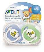 Philips BPA Free Bear Pacifier 3-6 months - girl colors