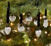 Pottery Barn Mini Mercury Glass Shaped Ornaments - Set of 24