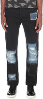 Anglomania Patchwork slim-fit tapered jeans