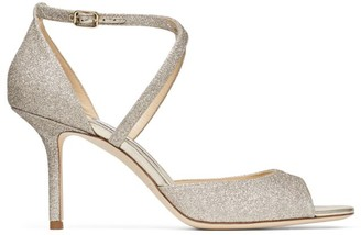 Jimmy Choo Emsy 85 Glitter Sandals