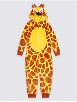 Marks and Spencer Giraffe Print Hooded Onesie (1-16 Years)