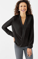 J. Jill Draped-Front Wrap Top