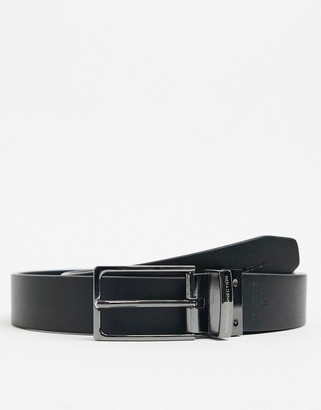 French Connection reversible textured leather belt