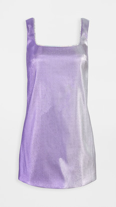 Area Crystal Choker Mini Dress