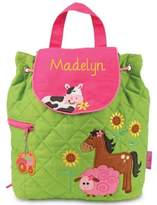 Stephen Joseph Girl's Farm Quilted Backpack in Green