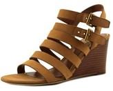 Lauren Ralph Lauren Aleigh Open Toe Leather Wedge Sandal.