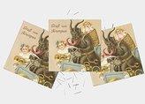 Christmas Cards x6 Krampus Anti Santa Funny Kids Set Xmas Cards XMPACK041_CS
