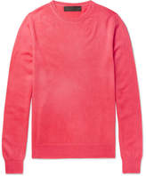 The Elder Statesman Billy Oversized Cashmere Sweater - Coral