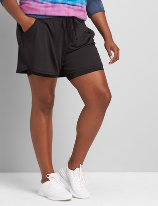 Lane Bryant LIVI Double-Layer Short With Wicking