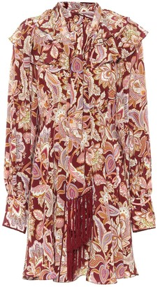 Zimmermann Charm Fringe silk crepe de chine minidress