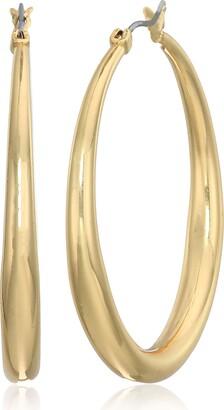 Anne Klein Women's Gold Medium Tapered Hoop Earrings