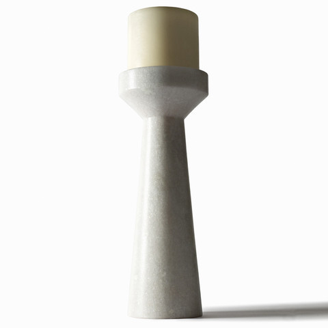 Tom Dixon Eclectic by Stone Candle Holder Tall