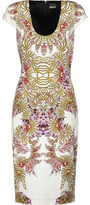 Just Cavalli Cutout Printed Stretch-Jersey Dress