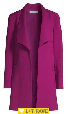 Tahari Arthur S. Levine Open-Front Topper Coat