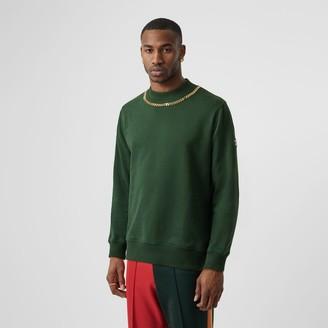 Burberry Chain Detail Cotton Sweatshirt