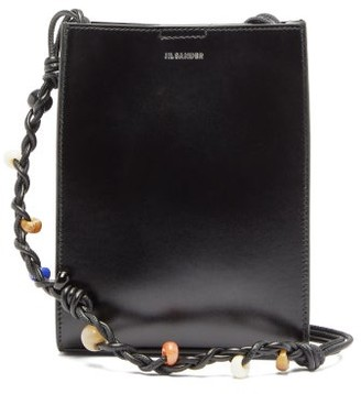 Jil Sander Tangle Small Braided-strap Leather Cross-body Bag - Womens - Black