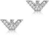 Emporio Armani Sterling Silver Signature Eagle Earrings