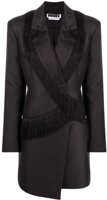 Rotate by Birger Christensen Shannon fringed blazer dress
