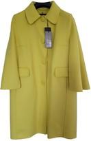 Ermanno Scervino Yellow Wool Coat for Women