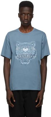 Kenzo Blue Gradient Tiger T-Shirt
