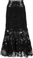 Jonathan Simkhai lace midi skirt - women - Silk/Spandex/Elastane/Rayon/Acetate - 0