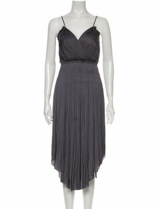Ulla Johnson V-Neck Long Dress Grey