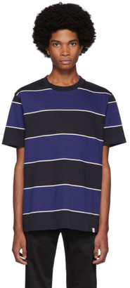 Norse Projects Black and Blue Striped Johannes T-Shirt